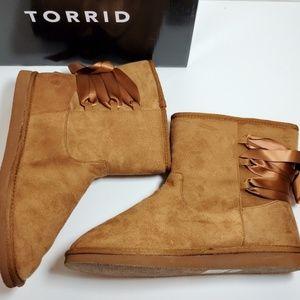 torrid Shoes - Last One!  New Torrid Faux Fur Bootie